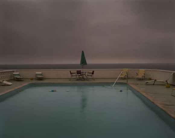 piscine pendant un orage