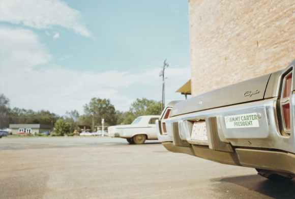 William Eggleston livre Election Eve voiture avec autocollant jimmy carter