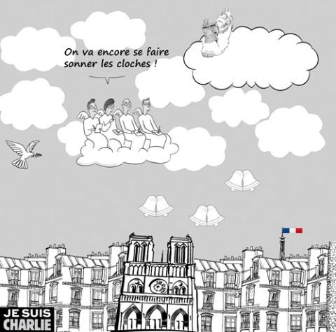 montage réalisé à partir de dessins des blogueur du Monde (http://bandedessinee.blog.lemonde.fr/2015/01/08/lhommage-a-charlie-des-blogueurs-du-monde/)