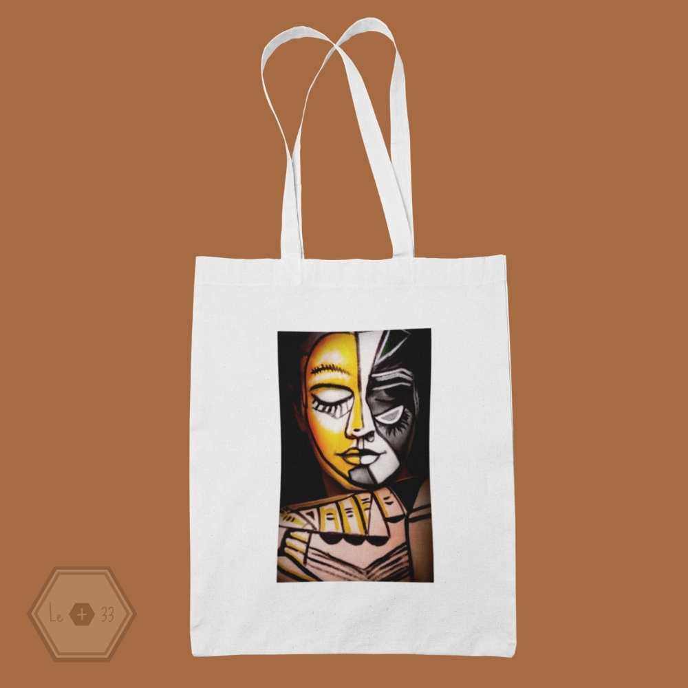 Tote bag art face painting