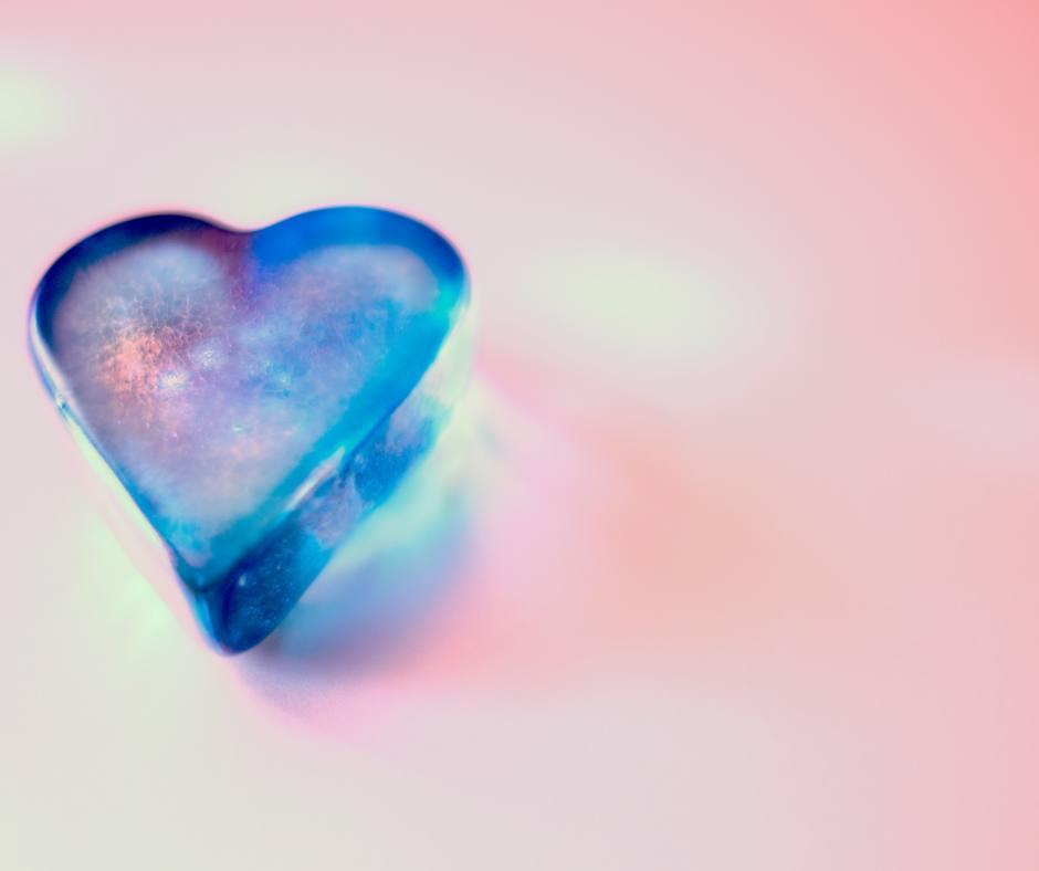 coeur bleu transparent
