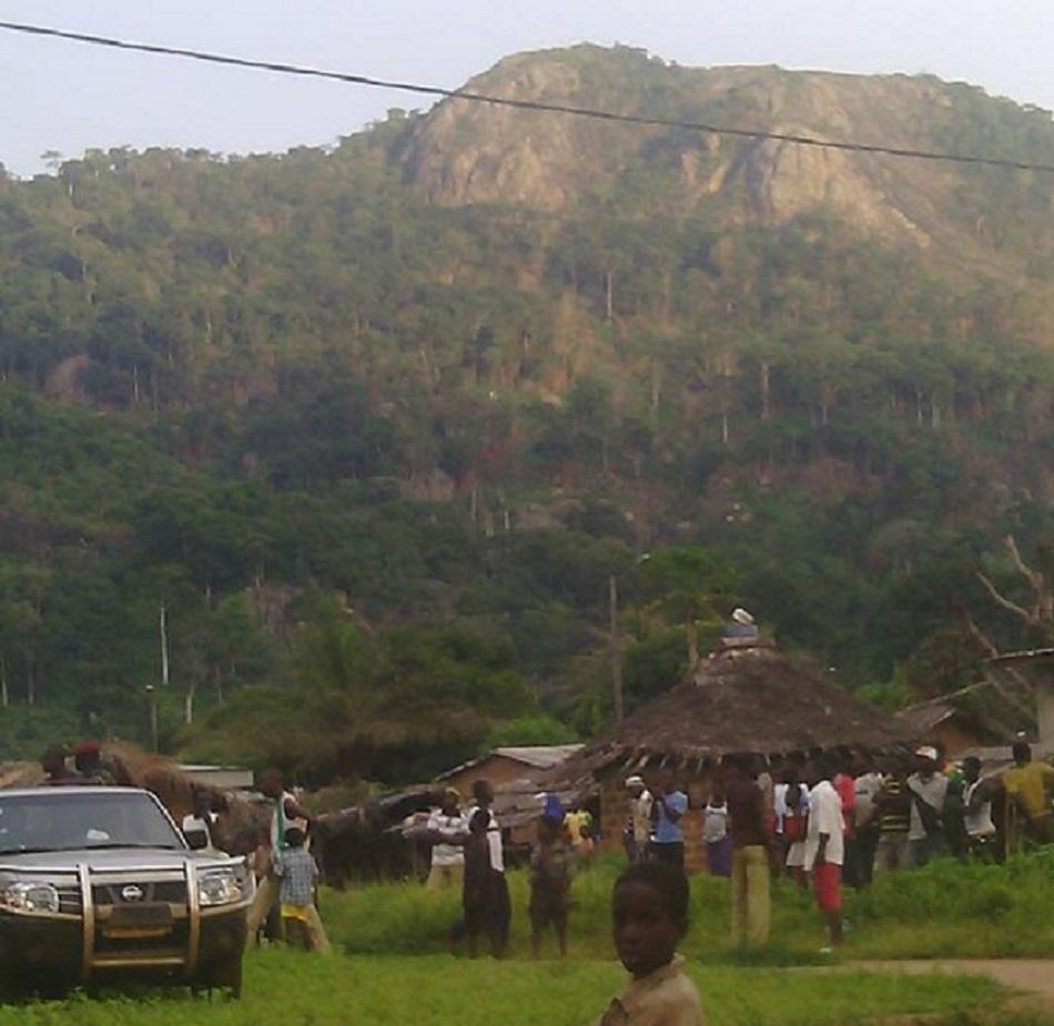 Une vue du village de Dio