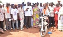 Rdr-Ouaninou/Investiture du Secrétaire départemental RDR : Mamadou Sanogo fait don de 30 motos aux secrétaires de section #CIV