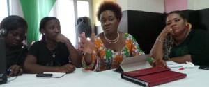 la présidente du Réseau des femmes journalistes et professionnelles de la communication de Côte d'Ivoire (Refjpci), Agnès Kraidy. Ph.lepointsur.com