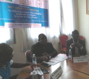 Le président de l'Unjci, Traoré Moussa (à droite) a apporté son soutien à l'Onji-ci
