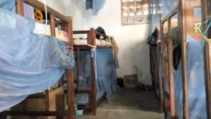 Une vue du dortoir des pensionnaires.Ph.Dr