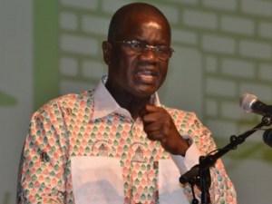 Amadou Soumahoro, le secrétaire général du Rassemblement des républicains...