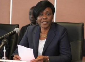 Kaba Nialé, ministre auprès du Premier-ministre chargée de l'Economie et des finances.