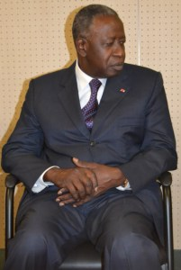 Le ministre du Pétrole et de l'Energie Adama Toungara