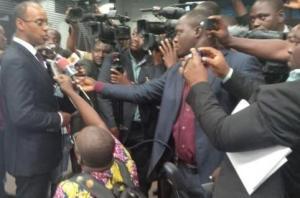 Thiery Tanoh pris d'assaut par les journalistes Ph. Dr