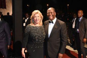 Le couple Ouattara.Ph.Dr