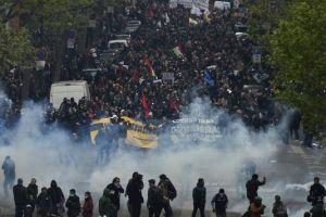 Grèves reconductibles dans les transports, nouvelles manifestations dans toute la France.Photo d'archives