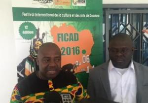 Le commissaire général du Ficad, Akoto Olivier au cours de la cérémonie de lancement. Ph. dR