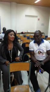 La candidate Clarisse Plégnon en compagnie de son DC, Gobé Alou. Ph.Dr