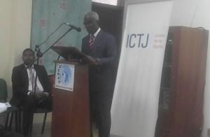 Monsieur N'Djomou D. Achille, conseiller technique du garde des sceaux ministre de la justice S Kambilé. Ph. EKB