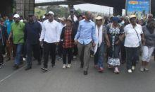 L'Afd envahit la rue pour protester contre le projet de nouvelle Constitution #Abidjan