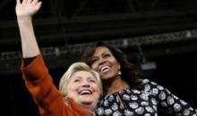 Présidentielle  aux USA : Hillary Clinton et Michelle Obama côte à côte pour faire barrage à Donald Trump