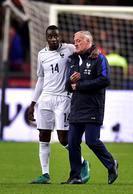joie des joueurs de l equipe de France en fin de match Didier Deschamps (France) - Entraineur  Blaise Matuidi (France)