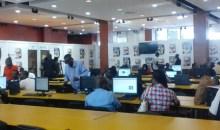8es Jeux de la Francophonie :le Centre multimédia équipé d'ordinateurs bureaux et de portables mis à la disposition des journalistes #Jeuxabidjan2017