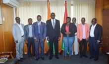Audience/ L'ambassadeur du Burkina en Côte d'Ivoire / SEM. Mahamadou ZONGO échange avec les Patrons de presse en ligne
