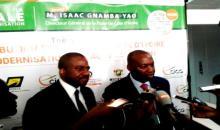 2ème édition de ''La Matinale de l'Administration'' Isaac Gnamba Yao (DG) présente les produits innovants de  la Poste de Côte d'Ivoire
