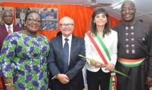 [Guiglo] Anne Désirée Ouloto reçoit une importante délégation d'hommes d'affaires italiens