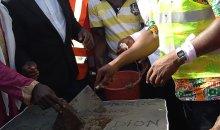 [Côte d'Ivoire/Sangouiné] Le nouveau Maire pose la première pierre du foyer des jeunes