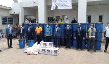 [Côte d'Ivoire/Lutte contre le Covid-19] Le MJF-RHDP fait un important don de matériel de prévention à ses 16 présidents communaux du District d'Abidjan