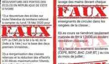 [Réouverture des portes des écoles en Côte d'Ivoire] Le gouvernement dément