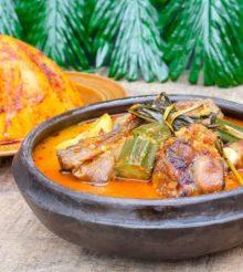 Côte d'Ivoire/Recette de la semaine : Foufou à la sauce Kokotcha