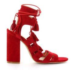 Red Fabric Sandal $749 MXN