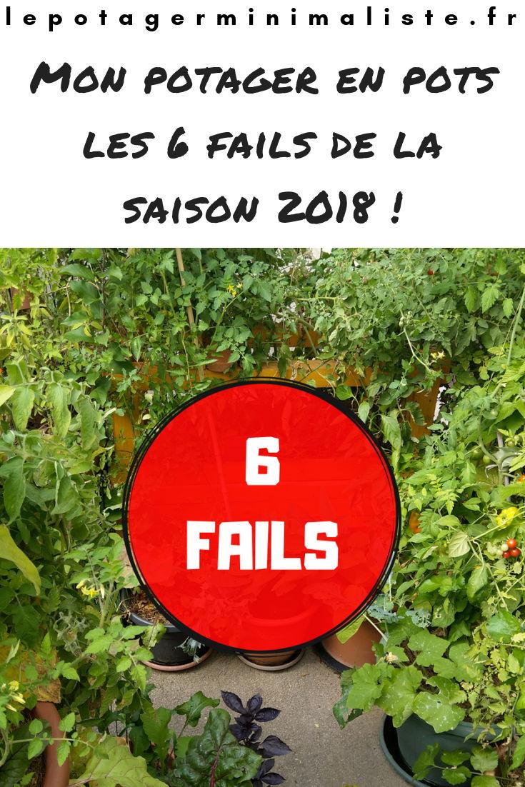 Mon potager urbain : les 6 fails de la saison 2018 / Le potager minimaliste