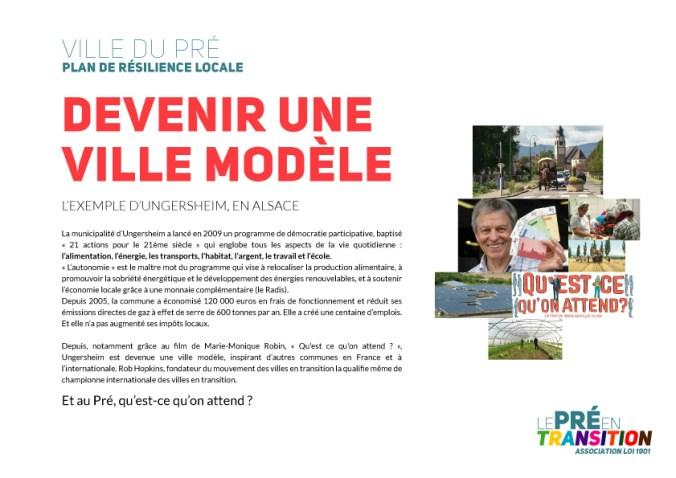 Devenir une ville-modèle