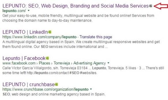 LEPUNTO Website marked grey by Kaspersky URL advisor