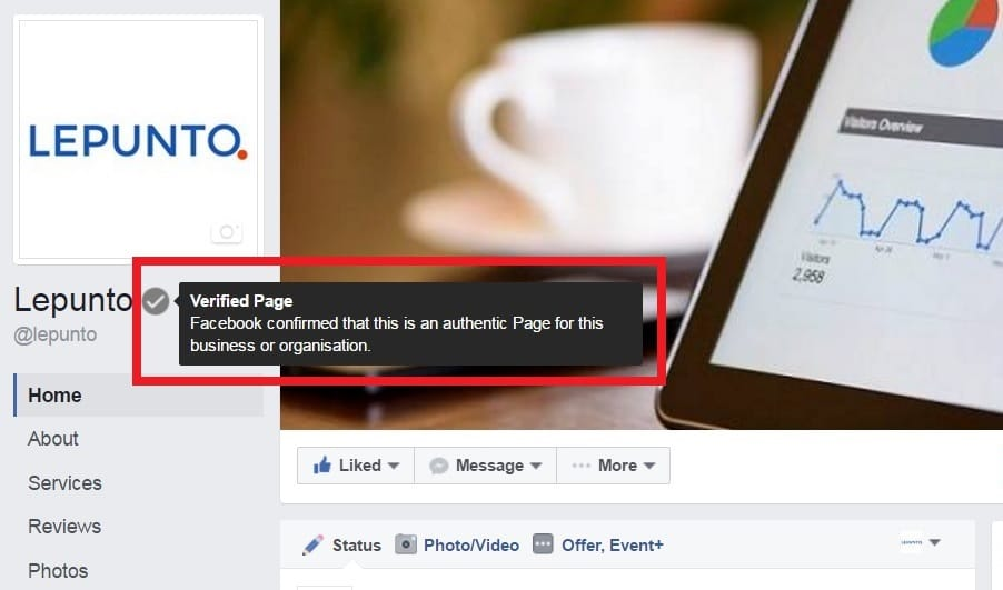 Verified Facebook Fan Page LEPUNTO