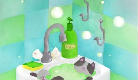 Dans le lavabo (colo)