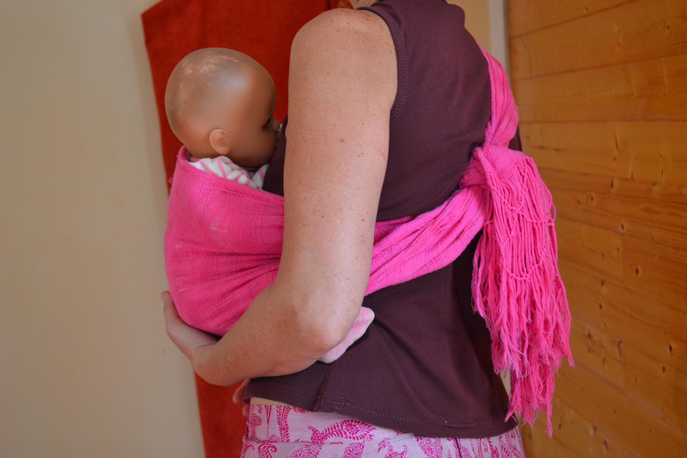 Portage bébé avec Rebozo