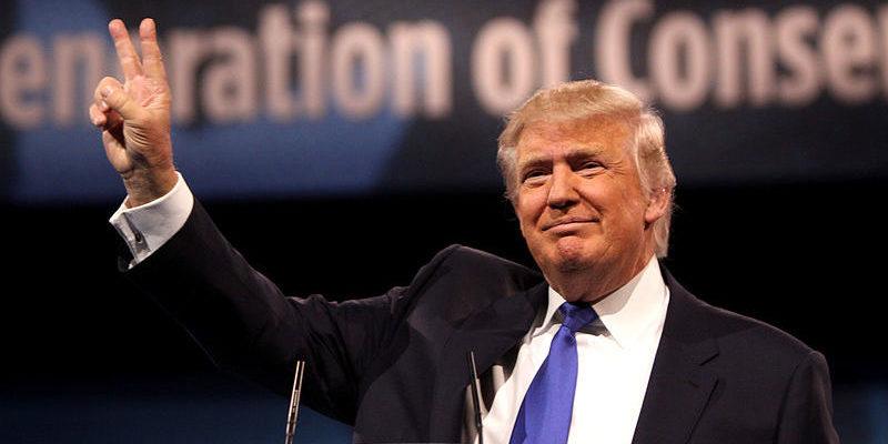 Donald Trump satisfait