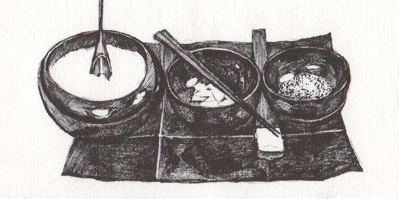 trois bols pour manger zen