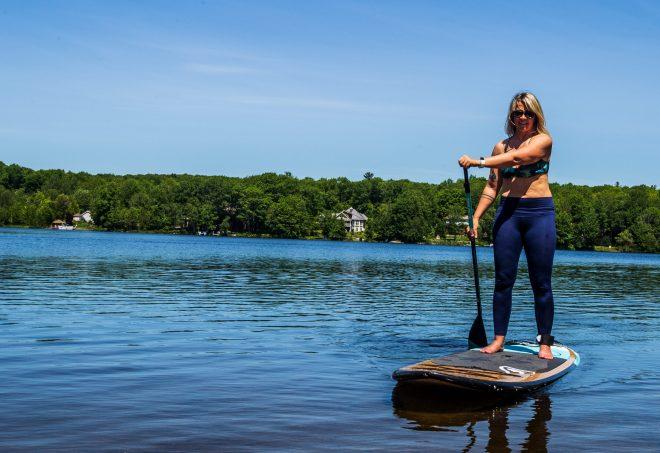 Marie Eve Godin sur l'eau