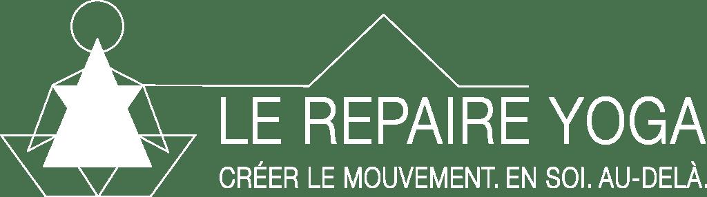 logo repaire yoga en blanc