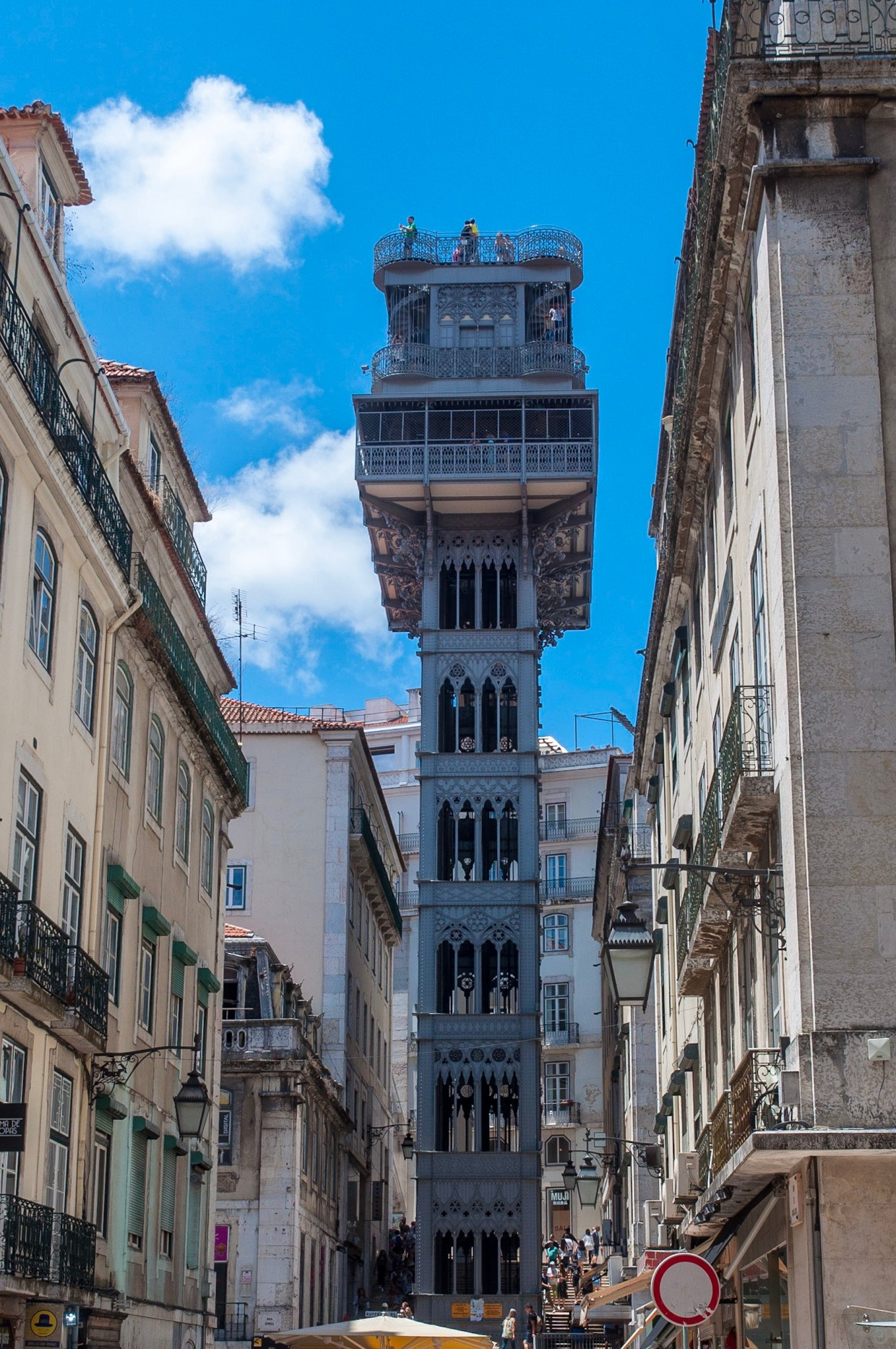 Elevador de Santa Justa, Lissabon, Juli 2017