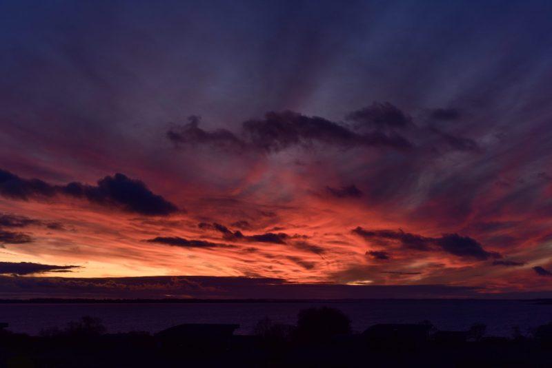 Sonnenuntergang Faborg 1. Advent 2019 (Foto: Andreas Lerg)
