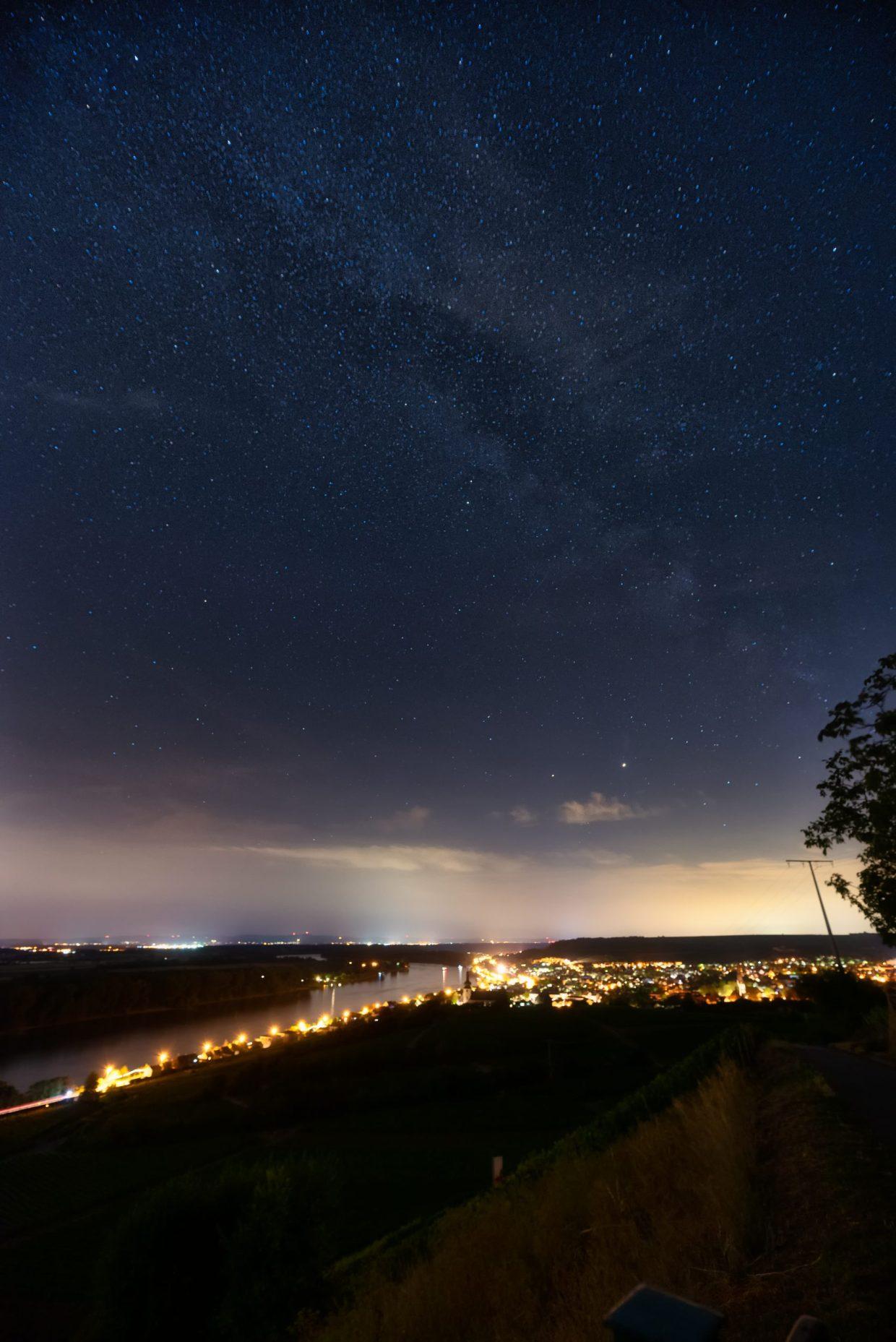 Die Milchstraße über Nierstein. (Foto: Andreas Lerg)
