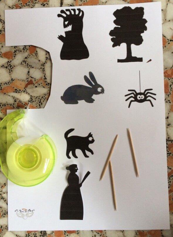 silhouettes pour boite à ombres