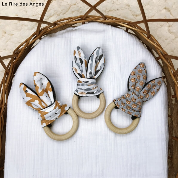 anneau bois bio oreilles doudou