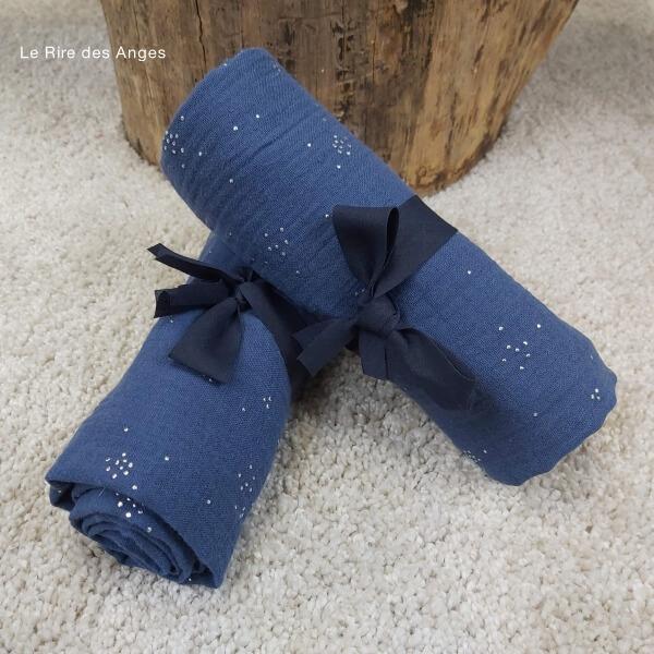 maxi lange bleu argent