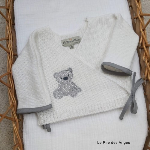 brassiere laine bebe ours