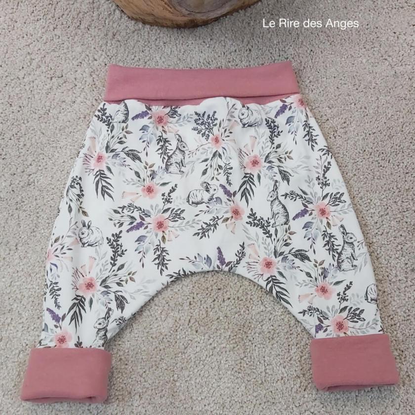 pantalon evolutif lapin