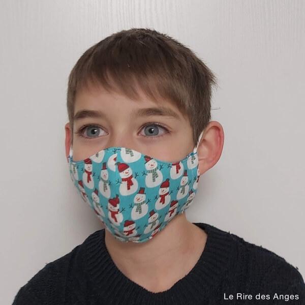 bonhomme neige masque enfant